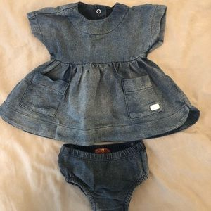 7 For All Mankind dress with diaper cover